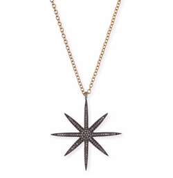 Siena Jewelry - Diamond Starburst Pendant Necklace