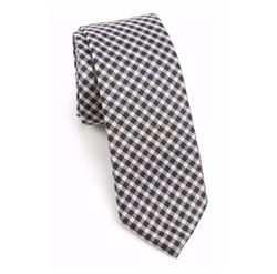 Saks Fifth Avenue Collection  - Gingham Silk Tie