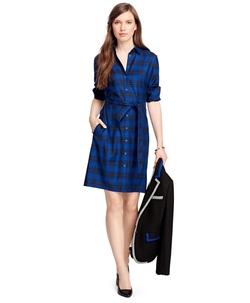 Brooks Brothers - Wool Tartan Shirt Dress
