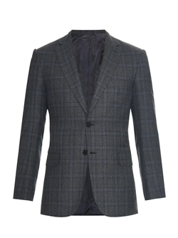 Brioni - Brunico Checked Wool-Blend Jacket