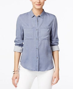 Calvin Klein Jeans  - Button-Front Long-Sleeve Shirt