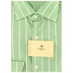 Luigi Borrelli  - Green Striped Shirt