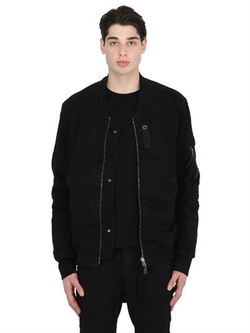 11 By Boris Bidjan Saberi   - Reversible Cotton Canvas Bomber Jacket