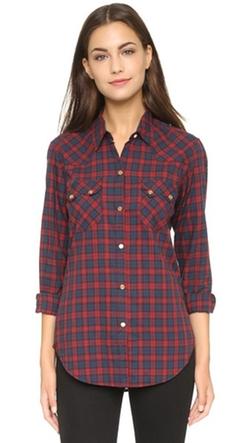 Nili Lotan - Tartan Check Western Shirt
