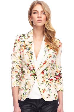 ROMWE - Lapel Floral Print Blazer