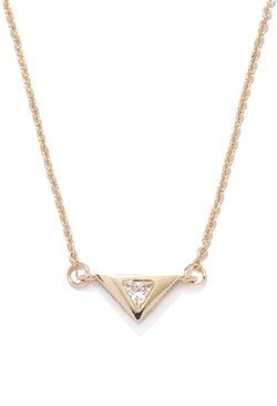 Forever 21 - Rhinestone Triangle Charm Necklace