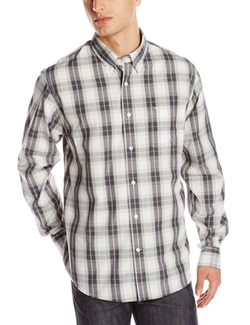 Dockers - Long Sleeve Grey Plaid Shirt
