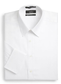 Saks Fifth Avenue Black  - Classic-Fit Royal Oxford Button-Front Shirt