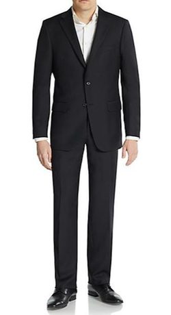 Hickey Freeman  - Regular-Fit Solid Worsted Wool Suit