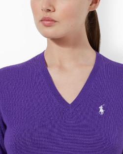 Ralph Lauren - Merino Wool V-neck Sweater