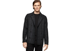 Calvin Klein Jeans  - Tweed Check Cropped Peacoat