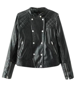 Lingswallow - Slim Fit Moto Jacket
