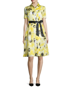 Kate Spade New York - Sunny Daisy Silk Organza Dress
