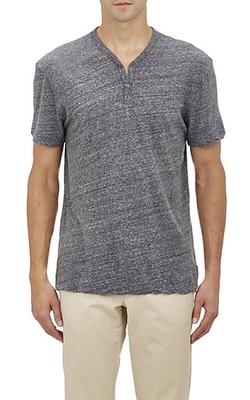 James Perse - V-Neck Short-Sleeve Henley Shirt