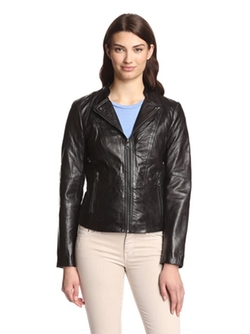 Marc New York by Andrew Marc - Molly Leather Moto Jacket