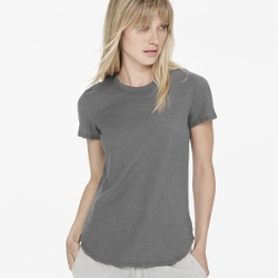 James Perse - Sheer Slub Crew Neck Tee Shirt