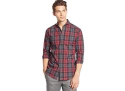 Vince Camuto  - Shortshirt Plaid Long-Sleeve Shirt