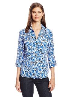 Jones New York - Zip Pocket Roll Tab Shirt