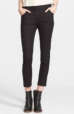 Ann Demeulemeester  - Linen Blend Ankle Pants