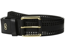 Cole Haan - High Shine Veg Panel With Square Perferated Detail Belt