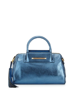 B Brian Atwood  - Sharon Mini Metallic Zip Satchel Bag