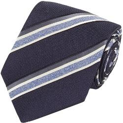 Isaia - Border-Stripe Neck Tie