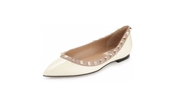 Valentino - Rockstud Patent Ballerina Flat Shoes