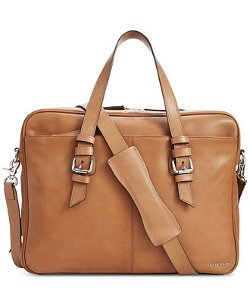 Cole Haan - Leather Zip Top Attache Bag