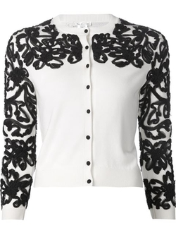 Oscar De La Renta - Embroidered Cardigan