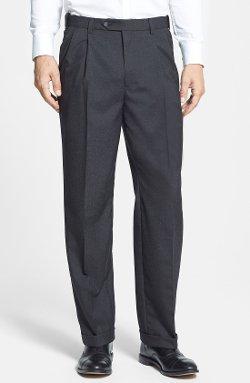 Berle - Self Sizer Waist Pleated Trousers