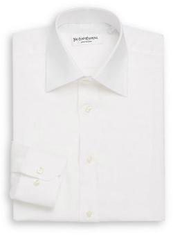 Yves Saint Laurent - Regular-Fit Solid Linen Dress Shirt