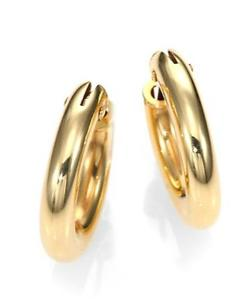 Roberto Coin - 18K Yellow Gold Petite Oval Hoop Earrings