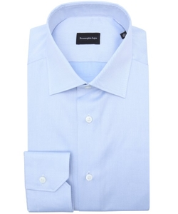 Ermenegildo Zegna  - Light Blue Cotton Spread Collar Dress Shirt