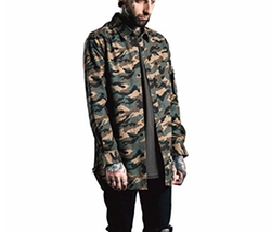 Ynport  - Mens Long Sleeve Active Camouflage Shirt