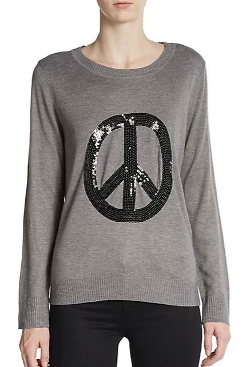 Saks Fifth Avenue - Sequined Peace Sweater