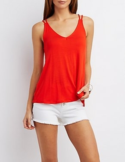 Charlotte Russe - Strappy Trapeze Tank Top
