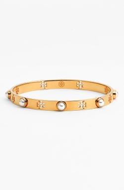 Tory Burch - Faux Pearl Bangle Bracelet