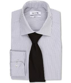 Calvin Klein  - Regular Fit L/S Striped Dress Shirt