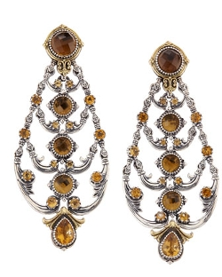 Konstantino - Cognac and Citrine Chandelier Earrings