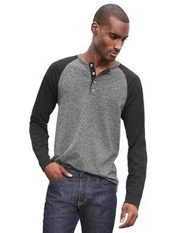 Banana Republic - Luxe-Touch Raglan Henley Shirt