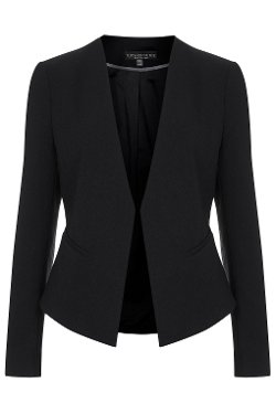 Top Shop - Petite Slim-Fit Curved Blazer