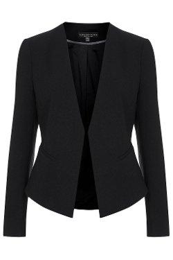 Top Shop - Petite Slim-Fit Curved Blazer