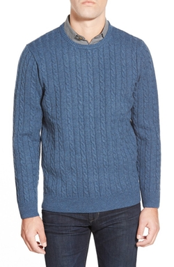 Singer + Sargent  - Cable Knit Wool Crewneck Sweater