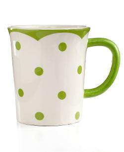 Martha Stewart Collection - Poppy Polka Dot Latte Mug
