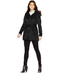 Steve Madden  - Hooded Belted Trench Coat
