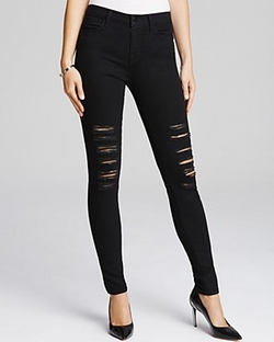 J Brand - Maria High Rise Destructed Jeans