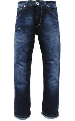 Stone Touch - Slim Fit Premium Destroyed Dark Wash Jeans