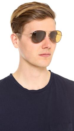 Ray-Ban  - Polarized Aviator Sunglasses