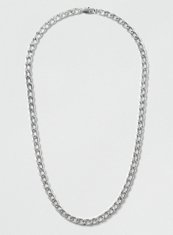 Topman - Premium Silver Plated Curb Chain Necklace