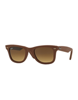 Ray-Ban  - Leather Wayfarer Sunglasses